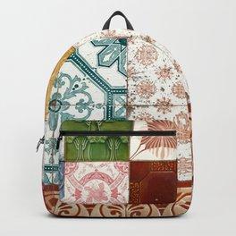 Colorful glazed tiles Backpack
