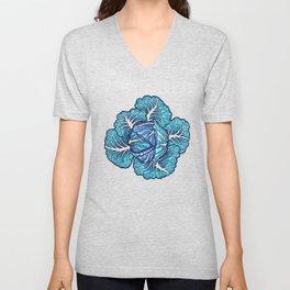 blue winter cabbage Unisex V-Neck