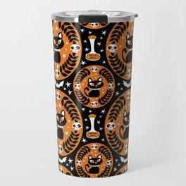 Retro Black Cats Travel Mug