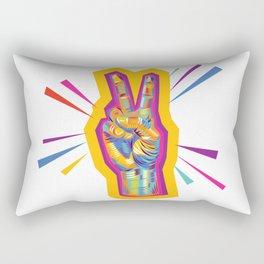 Raise a Peace Sign (Yellow Glow)  Rectangular Pillow