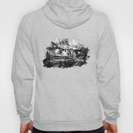 old ship boat wreck ws bw Hoody