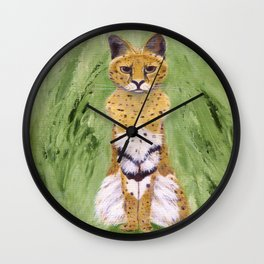 Serval Cat Wall Clock