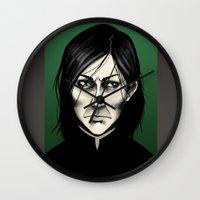 snape Wall Clocks featuring Severus Snape  by Fatma Sahem