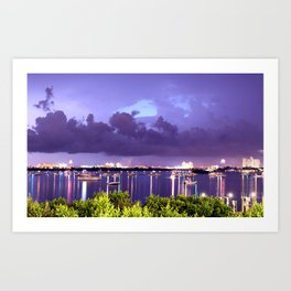 4th Of July In Clearwater, FL Art Print