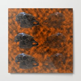 Farmyard Mortality (Meat for Sale) Metal Print