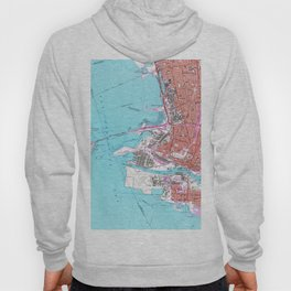 Vintage Map of Oakland California (1959) Hoody