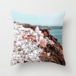 Santorini Greece, Fira Throw Pillow
