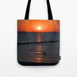 Holy sunset on the Baltic Sea Tote Bag