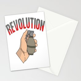 This is the awesome revolutionary Tshirt Those who make peaceful revolution THE REVOLUTION FIST Stationery Cards