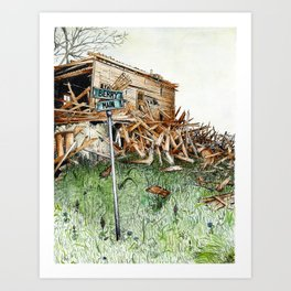 broken barn Art Print