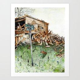 broken barn Art Print