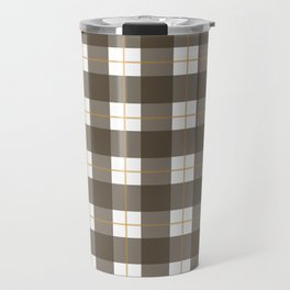 Fall Plaid Travel Mug