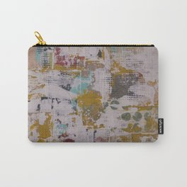 Mixed Mustard Carry-All Pouch