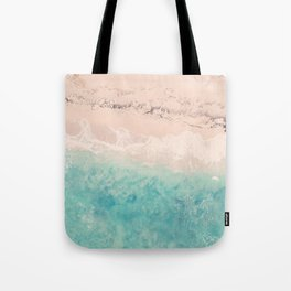 Aerial sea photography, exotic beach, fine art, wanderlust, coral reef, tropical landscape, summer Tote Bag
