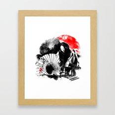 Dark Geisha Framed Art Print