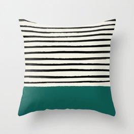 Jungle x Stripes Throw Pillow