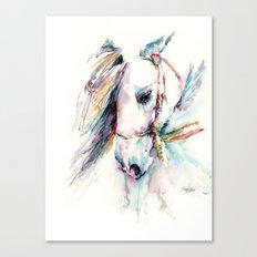 Fantasy white horse Canvas Print
