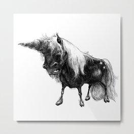 Angry Unicorn Metal Print