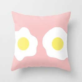 Eggy boobs Throw Pillow