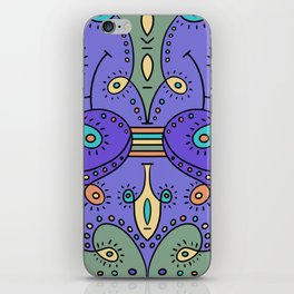 Abstracted Peacock iPhone Skin