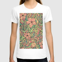 Floral delicate pattern T-shirt