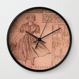 Vintage sewing pattern, 1950s  Wall Clock
