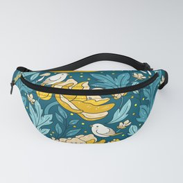 Art nouveau golden Fanny Pack