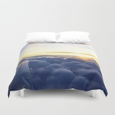 Sunrise Above the Clouds Duvet Cover
