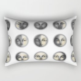 moon phases and romanticism Rectangular Pillow