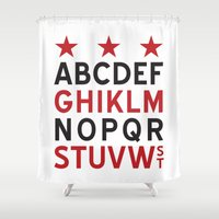 dc Shower Curtains featuring DC Streets by SquibInk