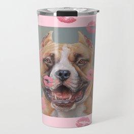 Dog Kisses Valentine's Day gift Travel Mug