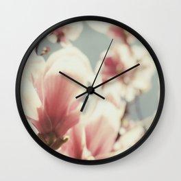 Magnolia blooms in Paris Wall Clock