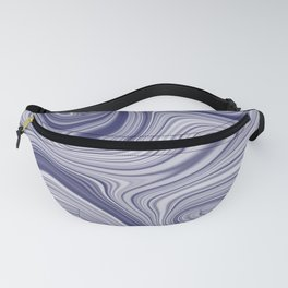 EDDY shades of purple & white in abstract agate pattern Fanny Pack
