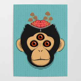 3rd Eye Chimp & Psychedelic Mushrooms Poster