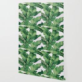Tropical banana leaves VI Wallpaper