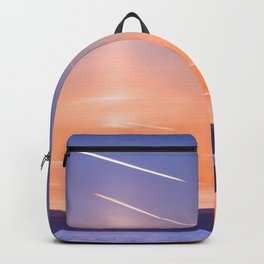 Сolumn of light and contrails Backpack