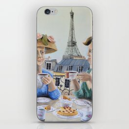 Tea Time in Paris iPhone Skin