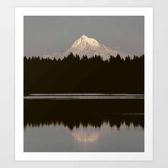 Mount Hood Reflection Art Print