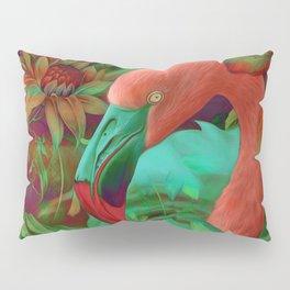 """""""Tropical Floral Retro Flamenco"""" Pillow Sham"""