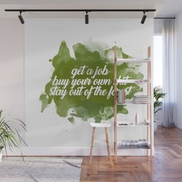 stay out of the forest Wall Mural