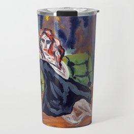 Blue ashtray Travel Mug