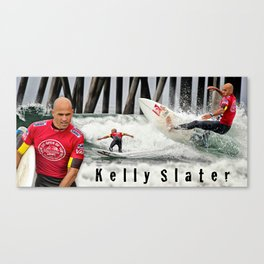 Kelly Slater Surfing Canvas Print