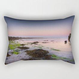 Dog chasing fish in Barna, Ireland Rectangular Pillow