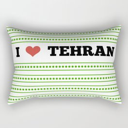 I Love Tehran Rectangular Pillow