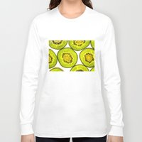 kiwi Long Sleeve T-shirts featuring Kiwi Fruit by Bruce Stanfield
