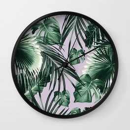 Tropical Jungle Leaves Dream #8 #tropical #decor #art #society6 Wall Clock