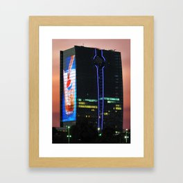 King's Road Tower in Jeddah, Saudi Arabia Framed Art Print