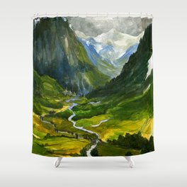 The Hidden Valley (original) Shower Curtain