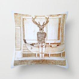 ciervo de mar Throw Pillow