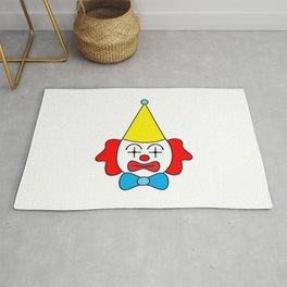 Clown - funny face. Rug